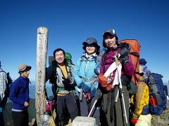 山頂で集合写真
