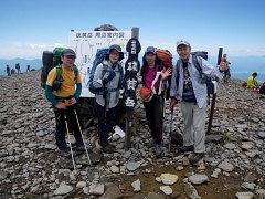横岳、硫黄岳と縦走も楽しみながら....。
