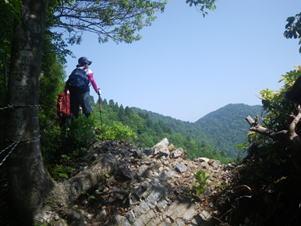 痩尾根から百里ヶ岳を望む