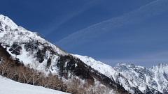 登攀した南岳西尾根