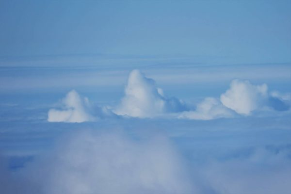 山みたいな雲でした