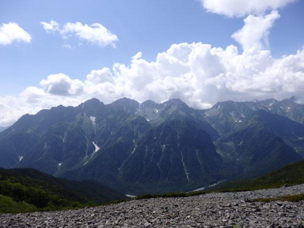 穂高連峰と槍ヶ岳の大展望