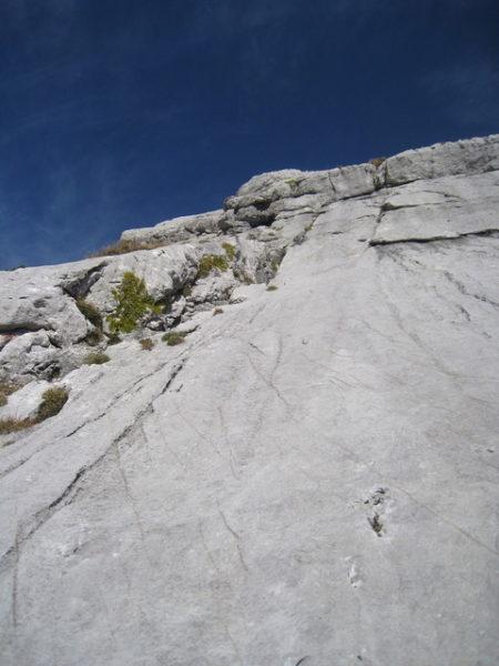 06_3ピッチ目終了点から頂上を見上げる