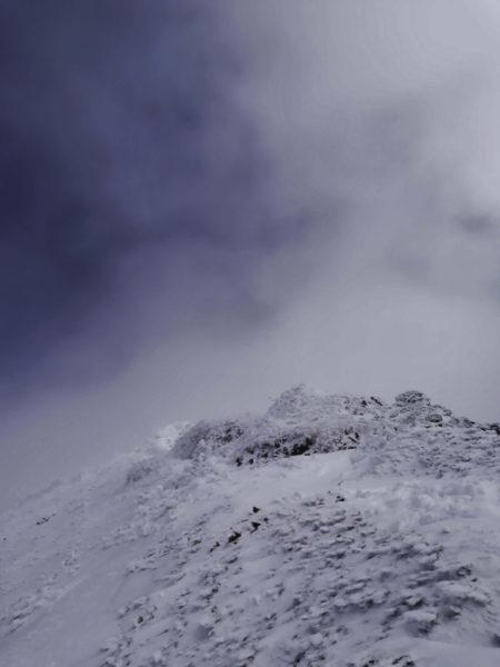 07 稜線から山頂付近の様子