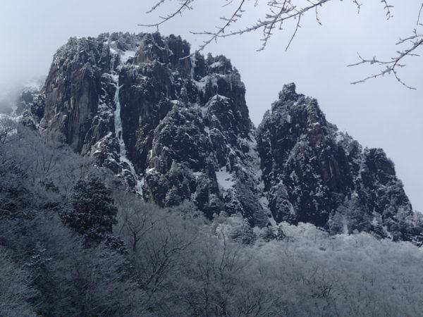 錫杖岳3ルンゼ